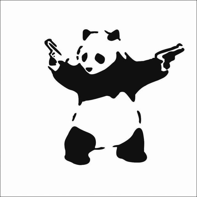 Amado Preto novo Dos Desenhos Animados Kung Fu Panda Decalque Etiqueta  RO58