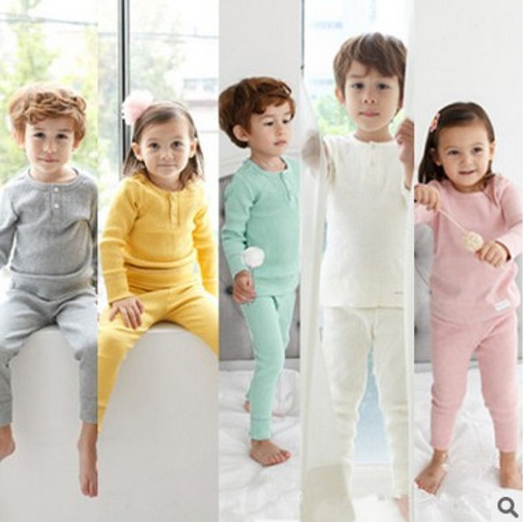 High Quality 2017 Children Clothing Set Girl Kids Night Pajama Boys Pajamas Suit Green / Pink / Yellow / White 5 colors 2015 new arrive super league christmas outfit pajamas for boys kids children suit st 004