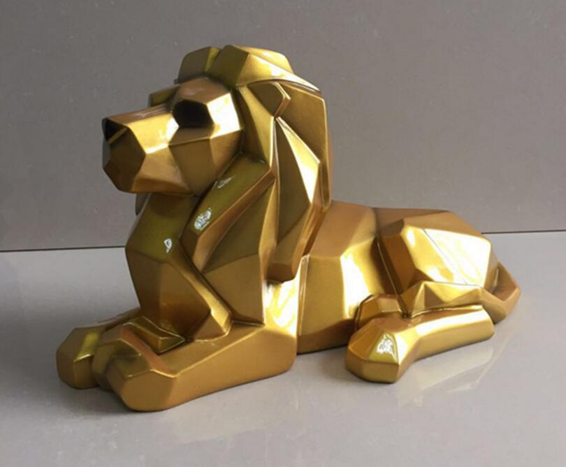 resin geometry abstract lion figurines home decor crafts room decoration objects vintage ornament resin animal figurines giftsresin geometry abstract lion figurines home decor crafts room decoration objects vintage ornament resin animal figurines gifts