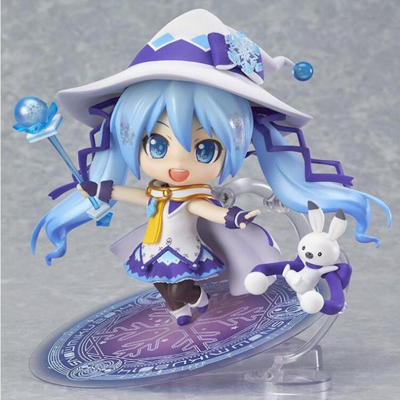 New hot nendoroid anime figures toy figma Hatsune Miku Collection 10CM action & toy figures Magical Hatsune Miku action figure 21 5cm hatsune miku pvc action action figure japan animation figma standed collectibles toy hatsune miku anime model otaku f