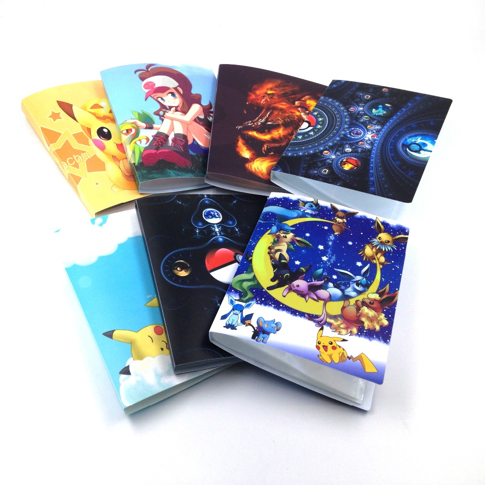 7 style pokemon cards album 112 playing cards holder album for pokemon suitable for 63 88mm