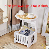 Smartlife DIY Coffe Table With Magzine Rack Living Room Table With A Gold Table Cloth Free