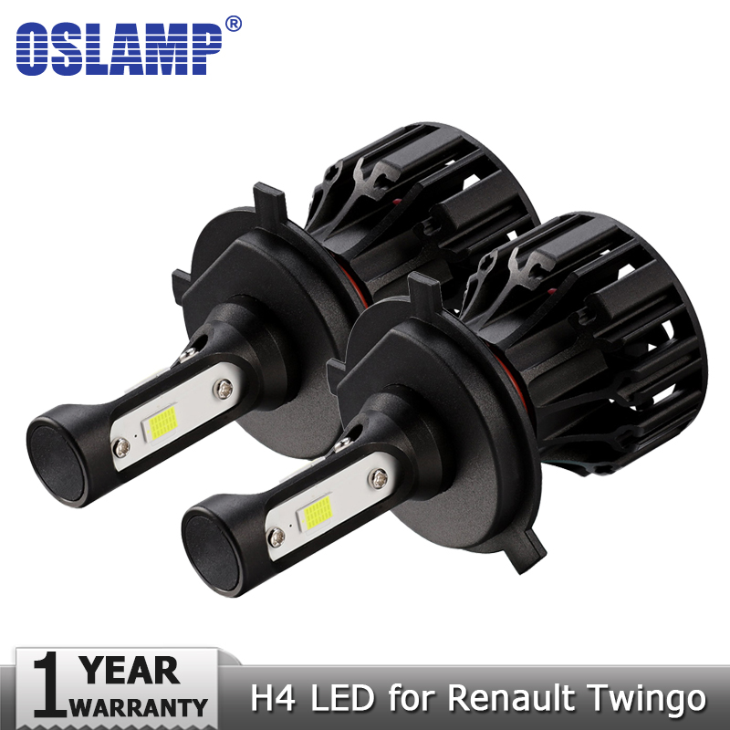 Oslamp H4 Hi lo Beam LED Headlight Bulb COB Car Led Light Bulbs 72W 8000lm Auto Headlamp Fog Lights 12v 24v for Renault Twingo
