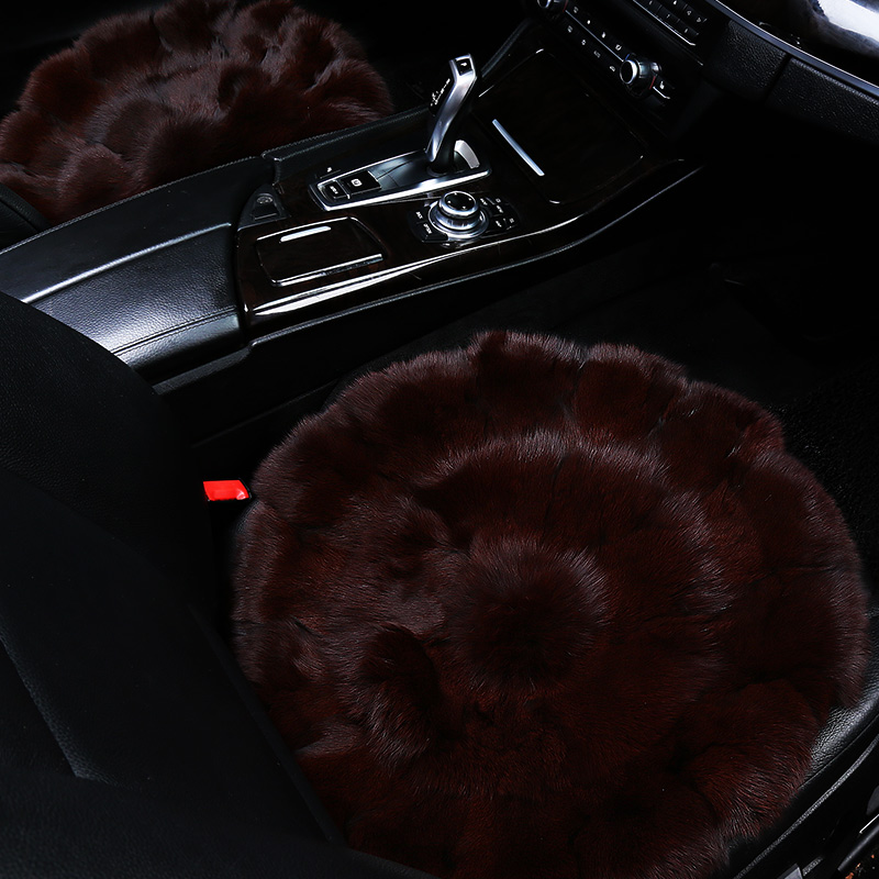 1pc fox fur car interior accessories cushion winter new plush car pad seat cover for opel gmokka insignia corsa ampera zafira
