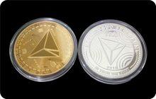 Moedas comemorativas trx de metal virtual, moedas comemorativas de trx bitcoin para presente