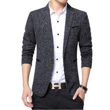 2019 демисезонный тенденции моды для мужчин приталенный, с одной пуговицей с длинным рукавом Малый шерстяной костюм куртка/мужской бизнес повседневное Пиджаки для ж