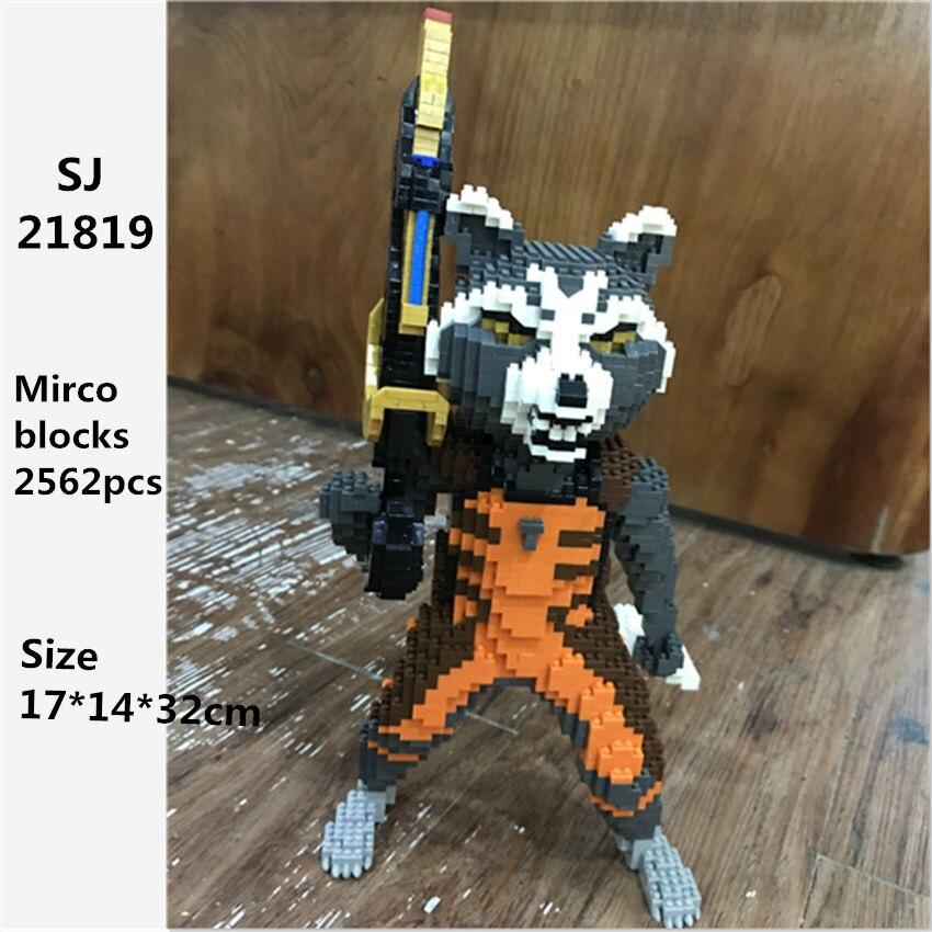 Rocket SJ Super Bear Or Fox 3D Model DIY Diamond Blocks Bricks Mini Building Assembly Toy  Jouets Juguetes Игрушки