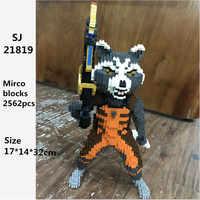 SJ fusée raton laveur Super héros 3D modèle bricolage blocs de diamant briques Mini bâtiment assemblage jouet Jouets Juguetes ггггёр
