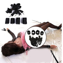 Good Healthy 4pcs Female Bondage Set Restraint BDSM Slave Sex Safe Play Adults Products new 8 pcs set sex toy for couples adult games foot handcuffs whip collar erotic toy pu leather sexy toys bdsm bondage restraint