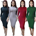 Women Winter Dress 2016 Sexy Club Party Dresses White Long Sleeve Solid Maxi  Bodycon Bandage Dress Vestidos De Fest
