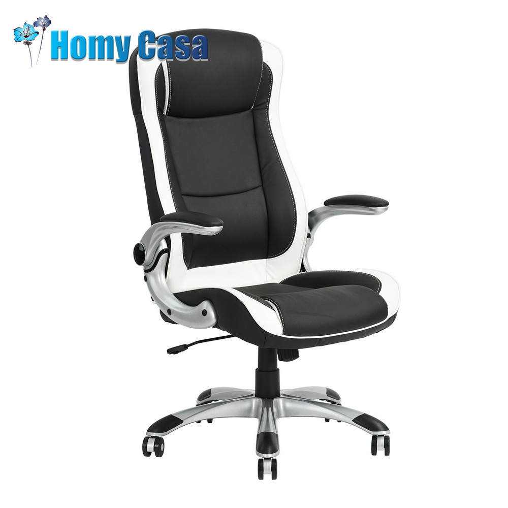 HOMY CASA Office Chair computer chair recliner ergonomic chair armchair leather chair ...