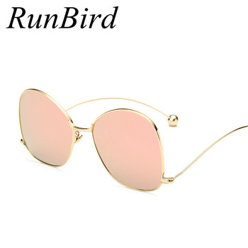 Rose Pink Mirror Round Sunglasses New Brand Designer Women Sunglasses Fashion Contort Leg Sun Glasses Oversize Oculos R155 image
