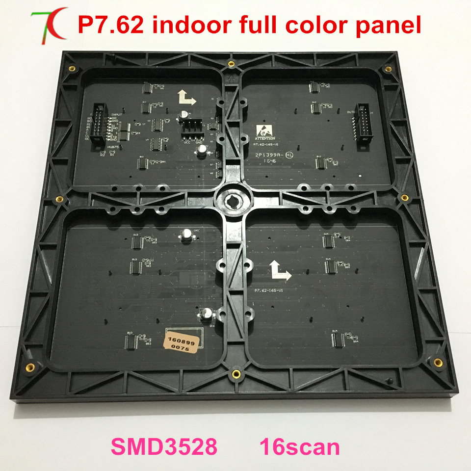 P7.62 Indoor 244*244mm Full Color Led Panel For Led Video Wall Or Rental Screen,1800cd/sqm.