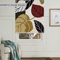 MOMO Blackout Painting Window Curtains Roller Shades Blinds Thermal Insulated Fabric Custom Size,PRB set449-454