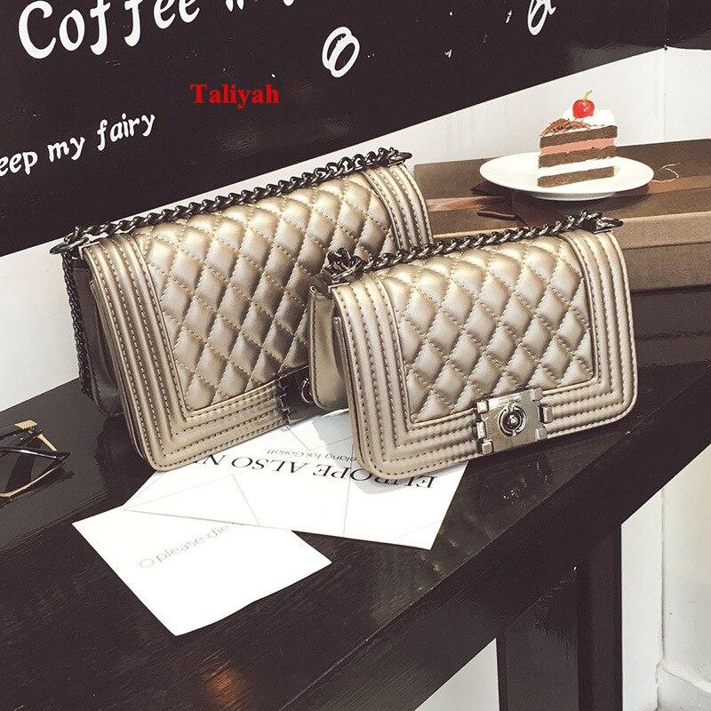 Luxury Brand Handbag Diamond Lattice Chain Bag Women Messenger Bags Vintage Ladi