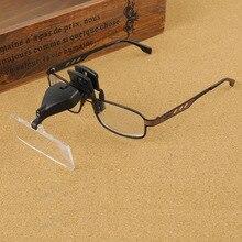 3 Ajustável de Plástico Lente 1.5X, 2.5X, 3.5X Óculos Lupa Clipe Mãos Livres Cabeça Lupa com Luz LED para Leitura eyewear