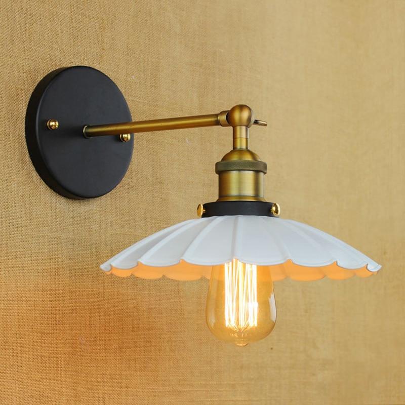 ФОТО Antique Retro E27 Lighting Metal Loft Industrial Personality Coffee Shop Simple Bedside wall lamp swing arm wall sconce Lights