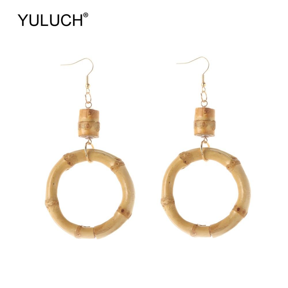 Fashion Statement Ethnic Nature Bamboo Dangle Earings