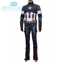 Мстители Возраст Ultron Капитан Америка 3 Косплэй костюм Стив Роджерс костюм Равномерное Экипировка для взрослых Для мужчин костюм супергероя