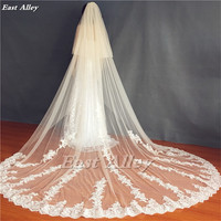 2019 New 2 Layer Long Wedding Veil Cathedral Veil Lace Bridal Veil Wedding Dress Long Veil