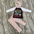 Новорожденных Девочек Осень одежда новорожденных девочек бутик одежды девушки живут любовь мечта балахон pollka dot брюки новорожденных девочек бутик балахон