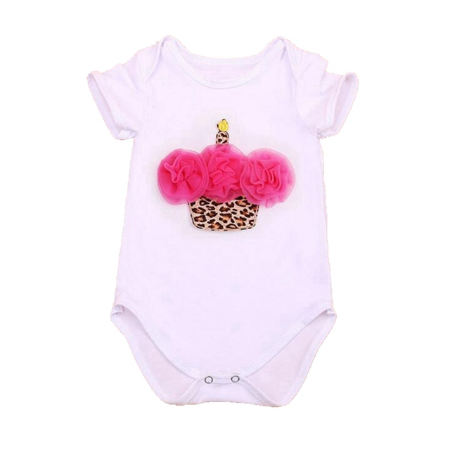 c632963771c Lace Ruffle Cupcake 1st Birthday Dress Summer Body Baby Bodysuits Macacao  Vetement Bebe Fille Bodysuit Newborn Baby Girl Clothes