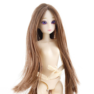 Image 2 - New 1/6 Dolls Accessories Head 3D Eyes Head for 30cm Doll Long Wig Hair Female Naked Nude Head without Body Dolls Toy For Girls