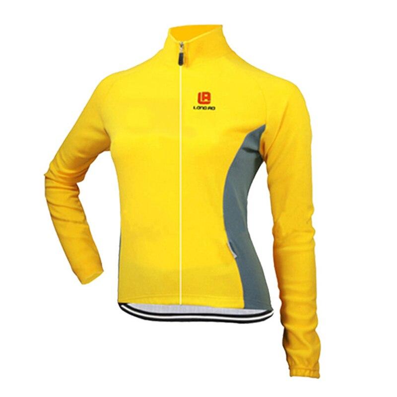 Ženy Cyklistické dresy Rychleschnoucí proti potu Dlouhý rukáv Podzim Jaro Oblečení Bicicleta MTB Maillot Ropa Ciclismo Mujer LONG01