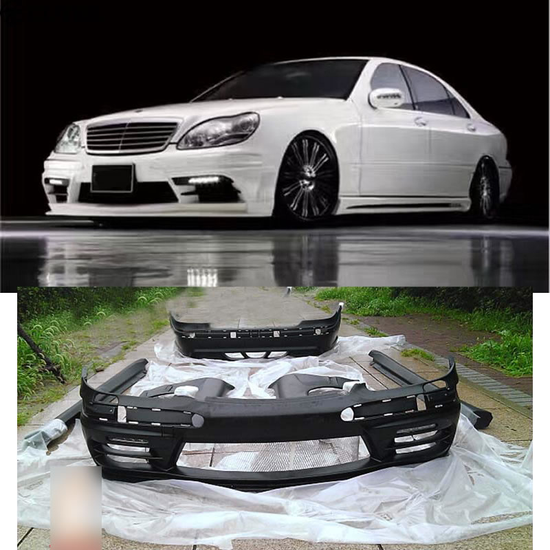 Mercedes Parts Center >> W220 S320 S350 Car body kit FRP Unpainted front Rear bumper Side skirts for Mercedes Benz W220 ...