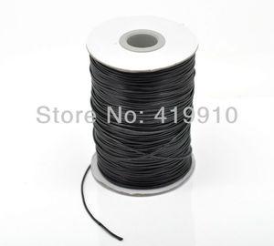Прекрасный вощеный хлопковый шнур 1 мм 1,5 мм 2,0 мм для браслета/ожерелья, продается в упаковке 1 рулон