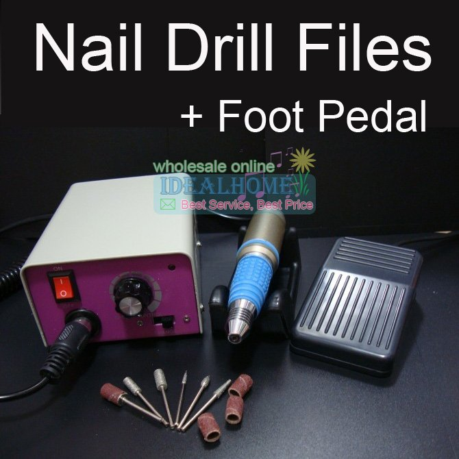 Wonderful 30000 RPM Electric Manicure Drill NAIL MANICURE PEDICURE SET FILE DRILL MACHINE KIT pro powerful 25000rpm electric nail drill pedicure manicure machine set with pedal