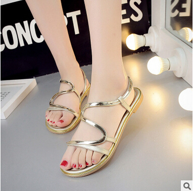 bcc4c222618f8e Flat sandals 2017 summer new simple flat with female student shoes Roman  sandals xtf027