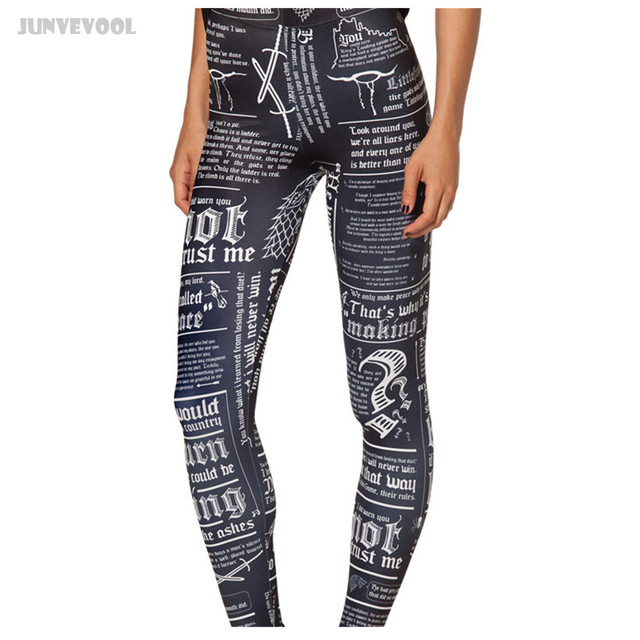 Leeging Work Out Leggings Women Bandage Style Gyms Fitness Clothing Bottom Elastic Capri Pants Trousers Blackboard Chalk Printed