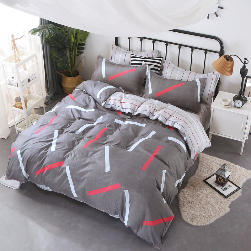 BEST.WENSD christmas bedding sets super soft duvet cover with zipper ...