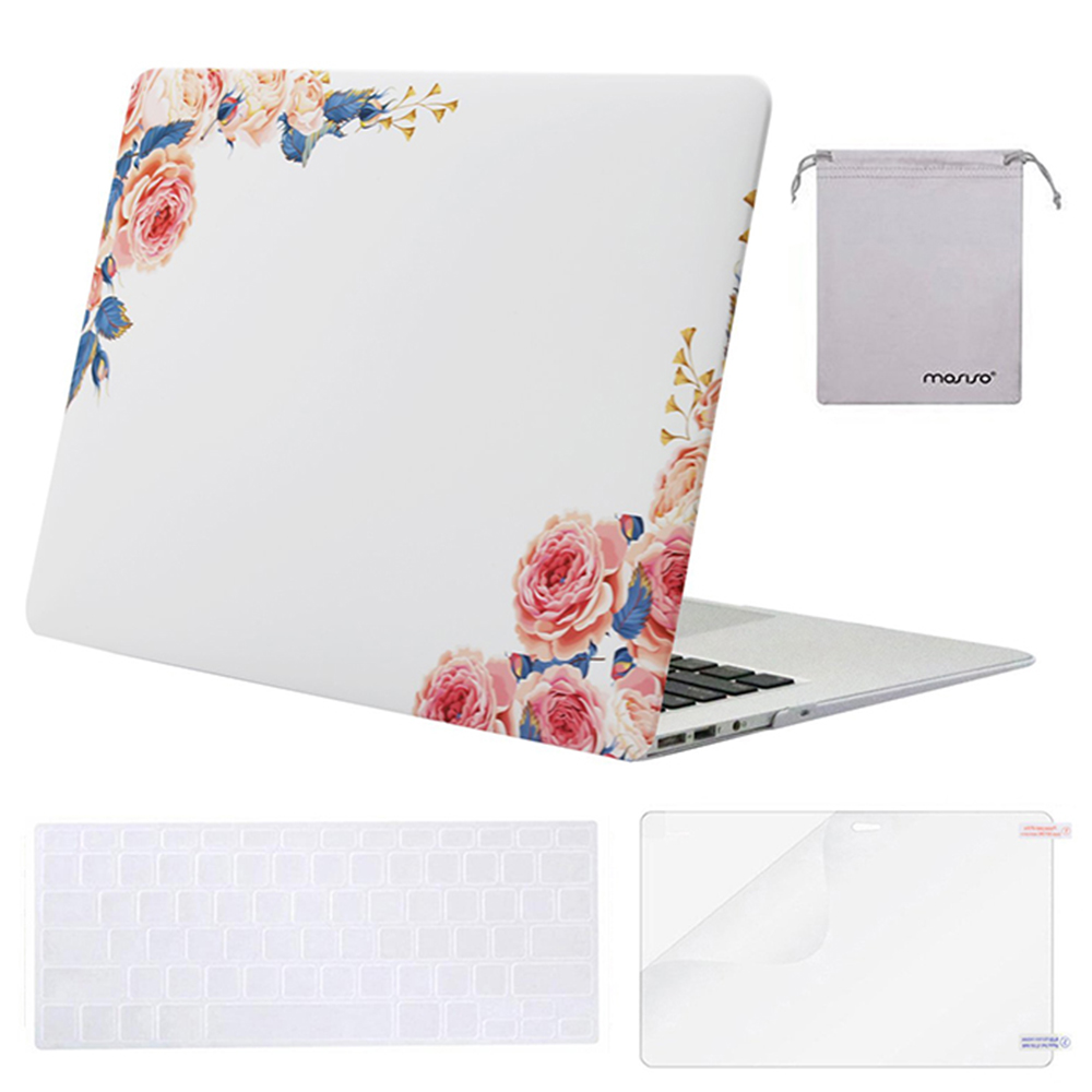 Mosiso 4in1 Laptop Shell Cover Case for Apple Macbook Air13 A1466//A1369  2017