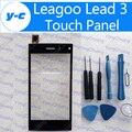 Leagoo Ведущий 3 Сенсорный Экран 100% Новое Дигитайзер Стеклянная Панель Замена Тяга Для Leagoo Ведущий 3 S MTK6582 4.5 Дюймов