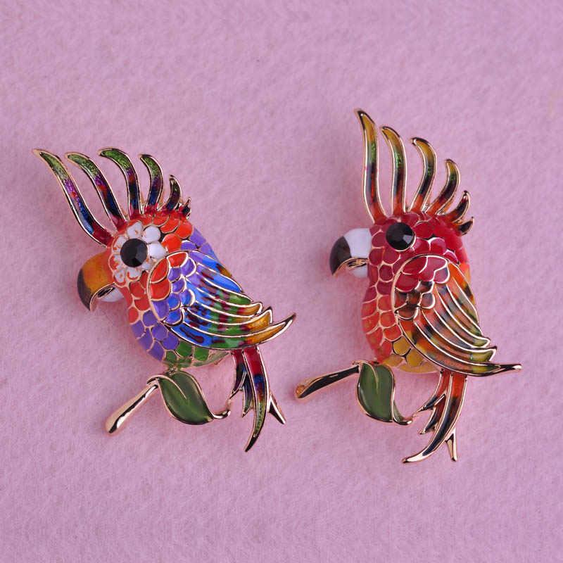Эмалированные цветные броши в виде птицы для рубашки, аксессуары, золотой цвет, для женщин, для детей, воротник с отворотами, заколки, платье куклы, брошь, Bjioux