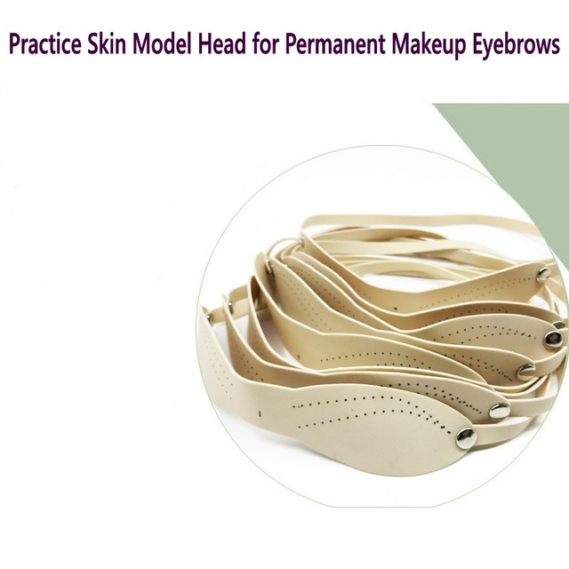 f818ad7c88 8Pcs Rubber Fake Eyebrow Straps Practice Skin Synthetic Latex Band  Headbands Permanent Makeup Learning Training Beginners