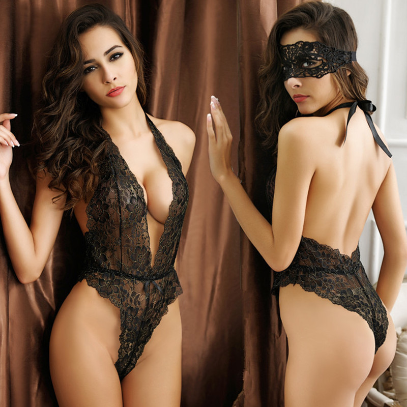 Sexy Lace Body Suit Tightly Open Back Body Sexy Lingerie -6817