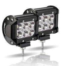 LED Work Light 18W Bar for Motorcycle Tractor Boat Off Road 4x4 Truck SUV ATV Fog Lamp 4inch 12 Volt Led Spotlight