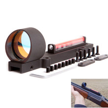 Cheapest prices Lightweight Red and Green Fiber 1×28 Red Dot Sight Hunting Pistol Telescope Scope Fit Shotguns Rib Rail Hunting Shooting
