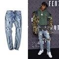 Черный пузырь агентство high street джинсы ТУМАН хаос молнии брюки красный уха СТРАХ БОЖИЙ тонкий Kanye Бибб
