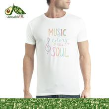 Music Colors the Soul Men T-shirt S-3XL NewT Shirts Funny Tops Tee New Unisex Funny High Quality Casual Printing 100% Cotton
