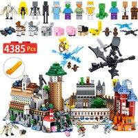 Шт. 4385 шт. мой мир строительные блоки комплект Совместимость LegoINGLYS Minecraft замок большой Magic техника Модель Кирпичи Детские игрушки