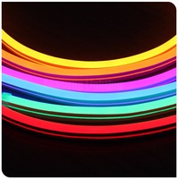 50 미터 220 볼트 네온 플렉스 스풀 초박형 10x18 미리메터 120 LEDs/m 네온 로프 빛 PVC 플렉스 로프 레드 그린 블루 화이트 따뜻한 화이트 핑크