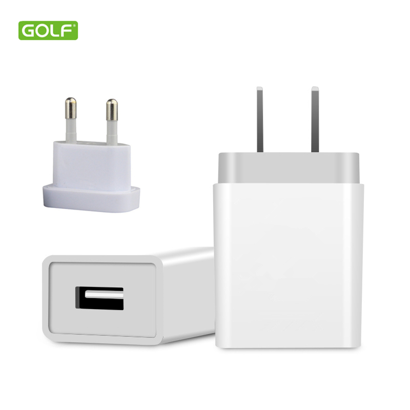 GOLF 5V 1A EU US USB Wall Charger For iPhone 4S 5 5S 6S 7 8 Plus X Samsung LG Redmi Honor Android Phone Universal Travel Adapter