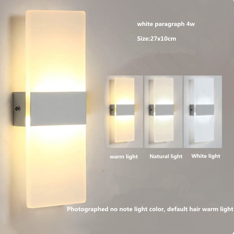 LED Rectangular Bedside Lamp Living Room Bedroom Balcony Simple Modern Walkway Sconce Interior Lighting modern minimalist bedside lamp bedroom wall light led personalized acrylic walkway stairs interior lighting luminaria