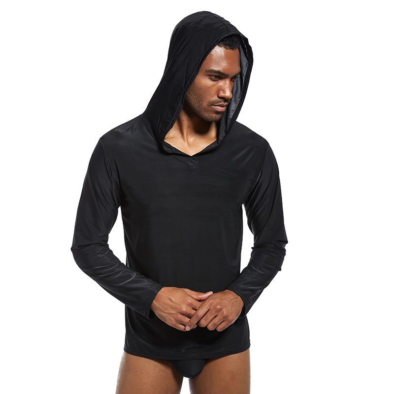 Men  Sleepwear Top Long Sleeve Thin Soft Breathable Casual For Home BS88