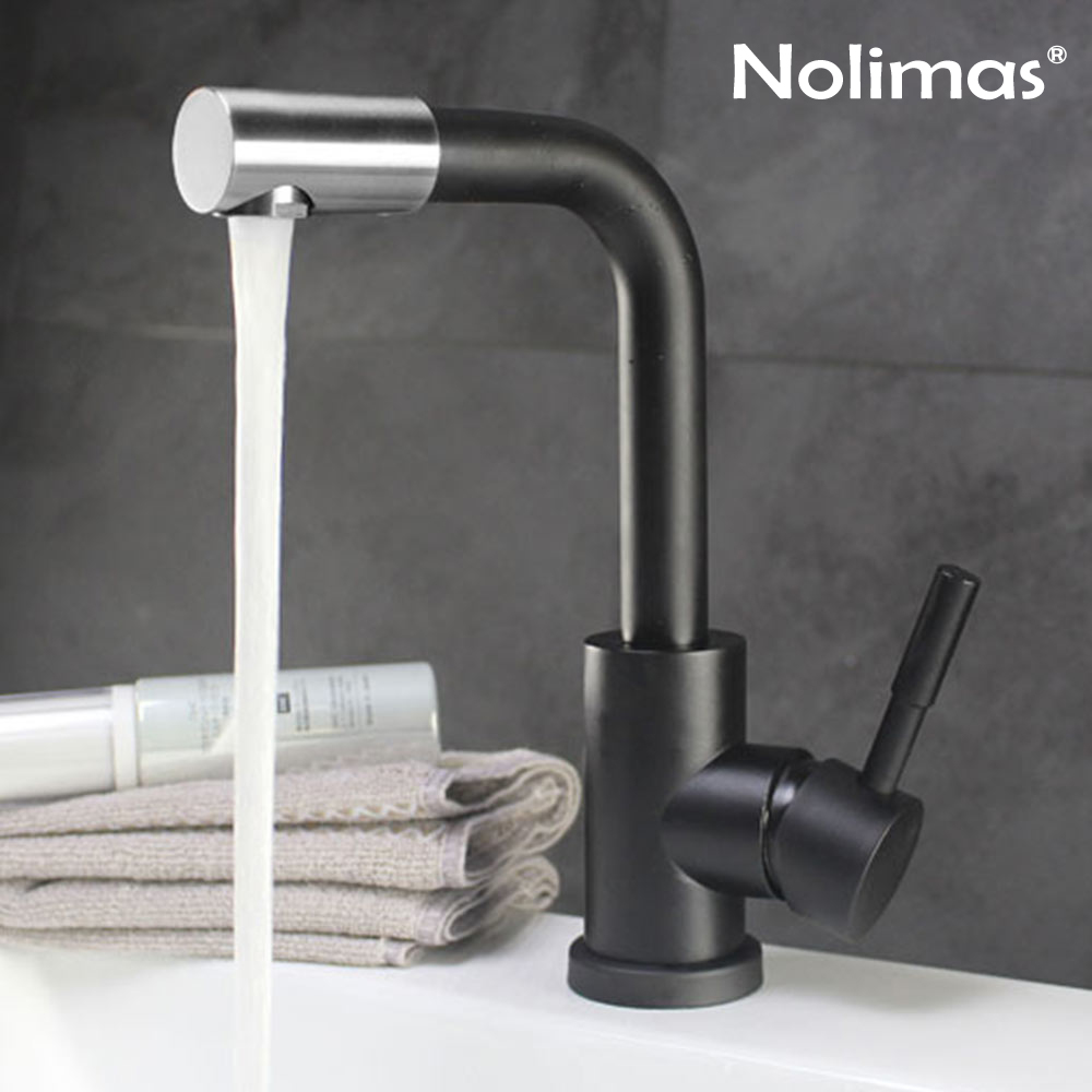 Bathroom Faucets Mixer 360 Degree Swivel Easy Wash Tap for Basin Sink and Kitchen Cold and Hot Water Faucet Black/White/Brushed tookoc black hot and cold water kitchen sink faucet water mixer tap 360 degree