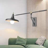 Nordic Bed Reading Room Telescopic Long Wall Lamp Modern Simple Adjustable Personality Creativity E27 LED Restaurant Wall Light